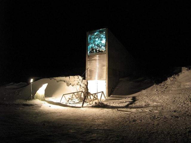 Entrada a la Bóveda Global de Semillas, en el archipiélago de Svalbard. Foto: NordGen/Dag Terje Filip Endresen