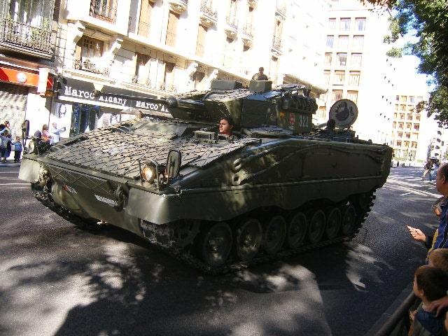 Vehículo de combate Pizarro de fabricación española. FOTO: JONATHAN FINEGOLDl