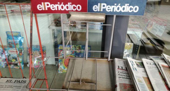 El éxito de la huelga evita que se impriman 'El Periódico' y 'Sport'