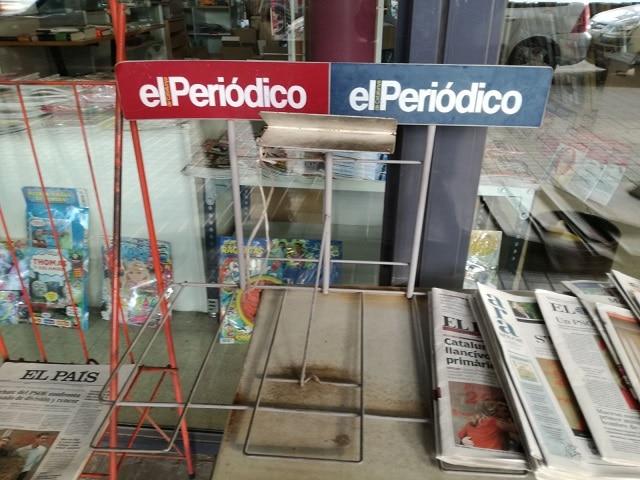 'El Periódico' y 'Sport' no se publicaron el 16 de mayo por la huelga de sus redacciones. COMITÉ DE EMPRESA