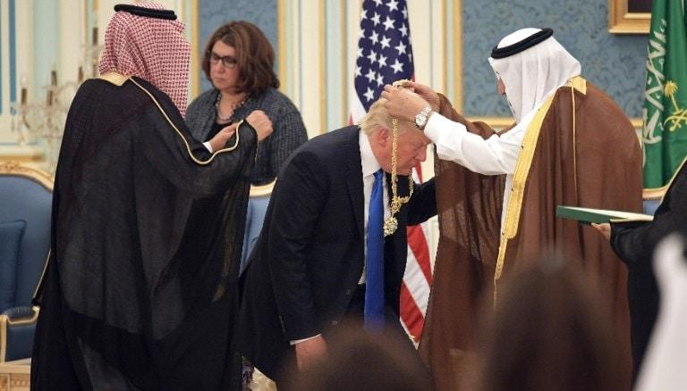 Donald Trump y el rey Salman de Arabia Saudí. FOTO: GOBIERNO DE EEUU.