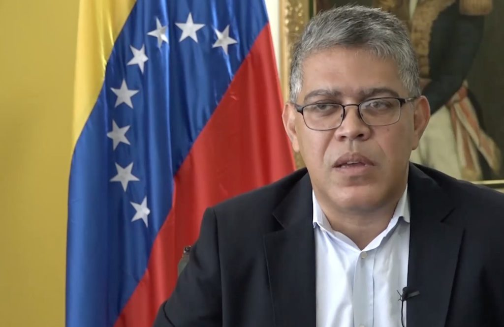El ministro de Educación, Elías Jaua, hombre de confianza del expresidente Hugo Chávez. Foto: Reproducción/Agência Pública.