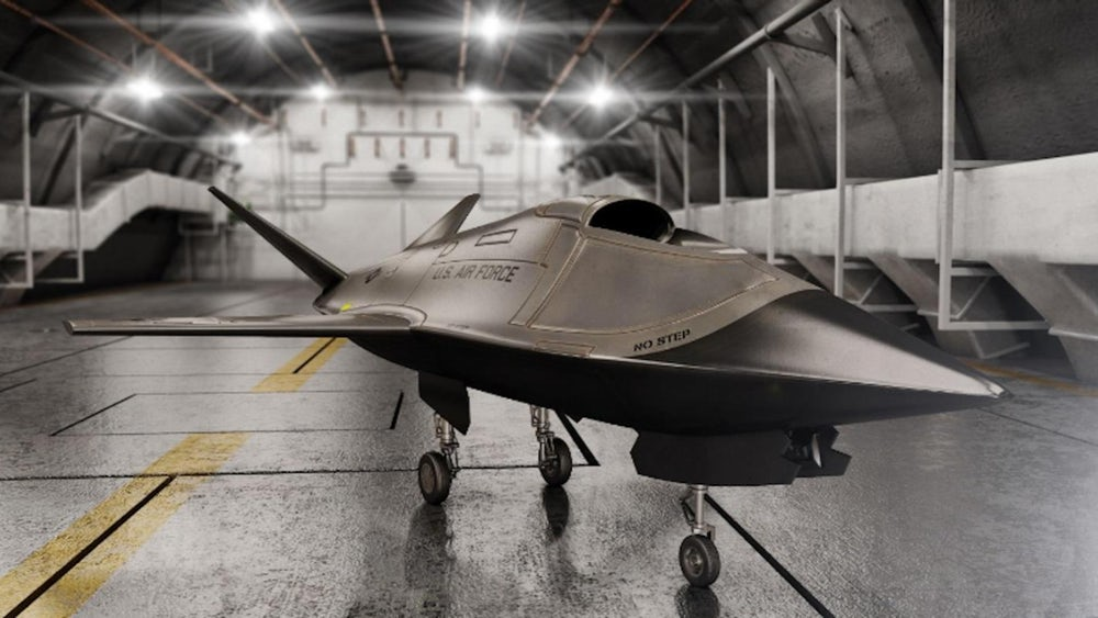 Prototipo del dron Kratos Valkyrie XQ-222. Foto: US Airforce Research Labs.