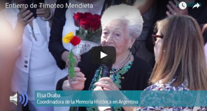 """[Vídeo] Ascensión Mendieta: """"Lo hemos conseguido. Ya sé dónde está mi padre"""""""