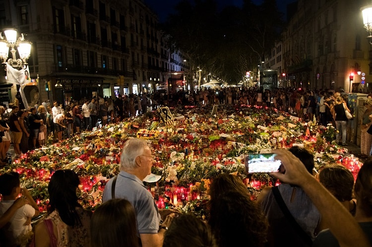 Homenajes en Barcelona tras los atentados del 17 de agosto. Foto: Ajuntament de Barcelona.