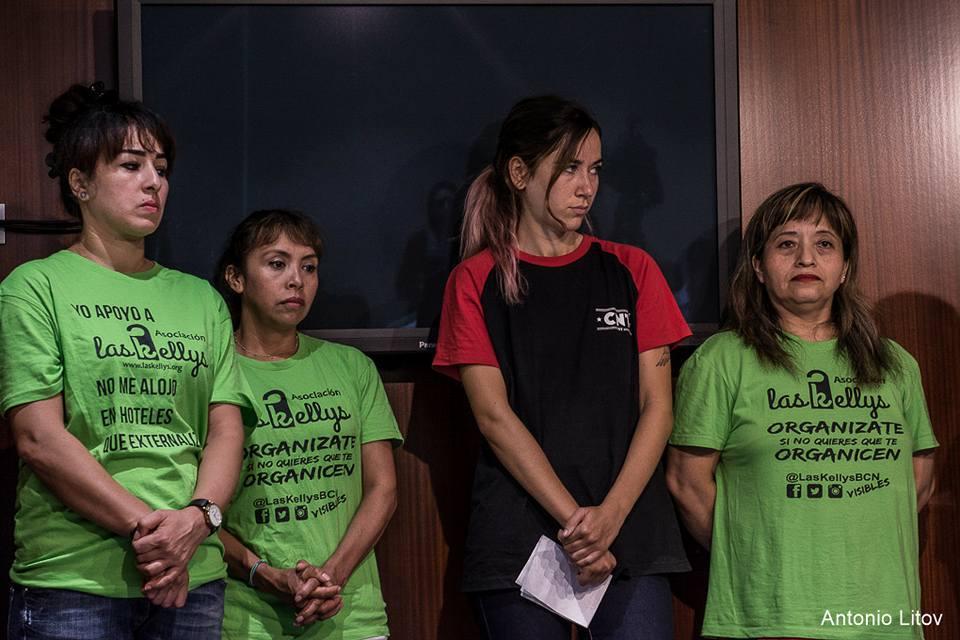 Las Kellys proponen la prohibición de la subcontratación de los servicios de limpieza en hoteles. LAS KELLYS BARCELONA