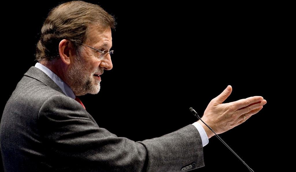 Mariano Rajoy en un mitin en Torrelavega. Foto: Partido Popular de Cantabria.
