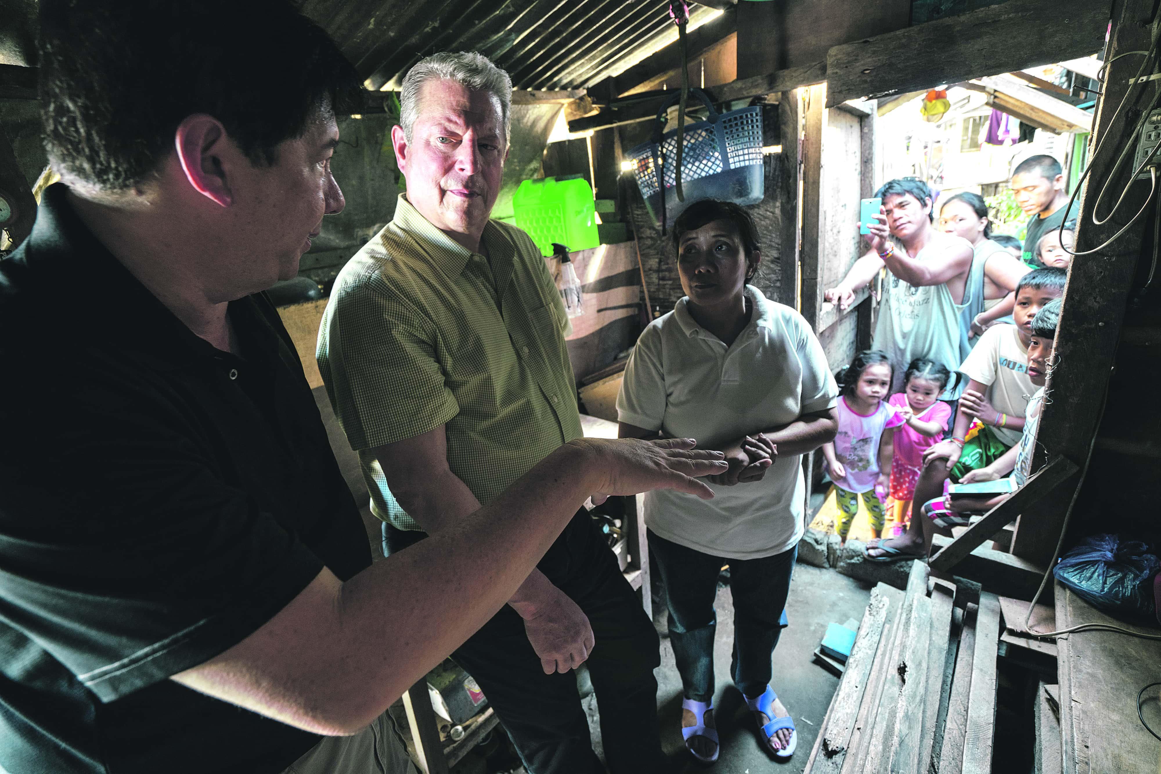 Al Gore, durante el rodaje de su nuevo documental. JENSEN WALKER