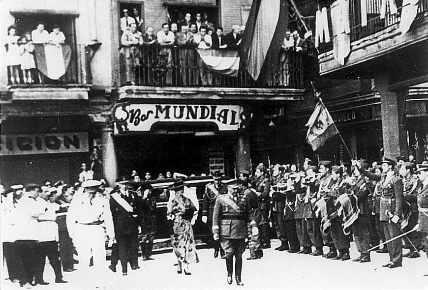 Franco en Reus (1940). Foto: Joan Barceló.