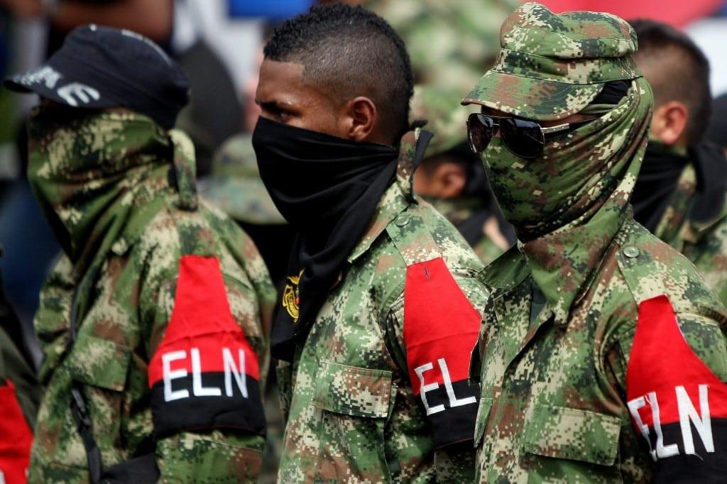 Miembros del la guerrilla insurgente colombiana Ejército de Liberación Nacional. Foto: Joanpa.