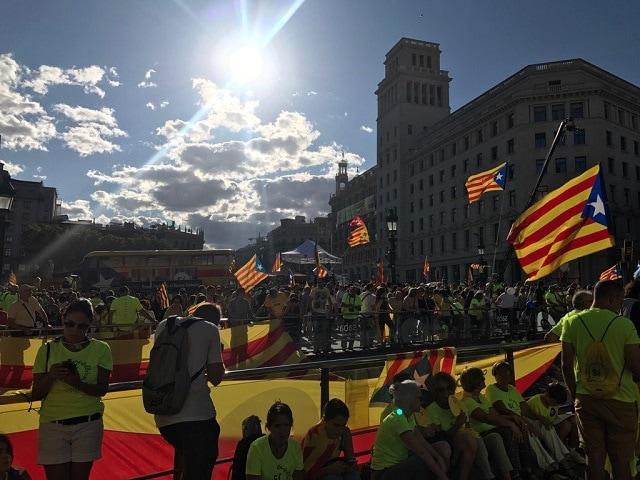 Celebración de la Diada 2017, en Barcelona. Foto: A.M.