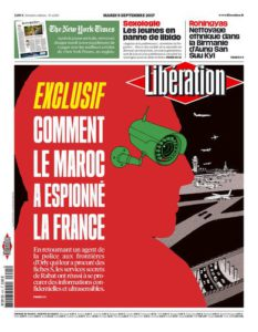 Portada del diario francés Libèration, 5 de septiembre de 2017.