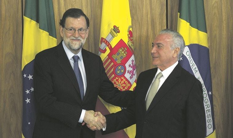 Mariano Rajoy junto al presidente Michel Temer. Foto: Mercosur.