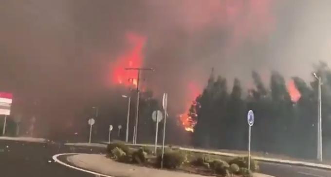 Cientos de incendios azotan Galicia y Portugal