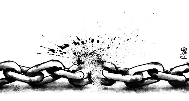 'Segamos cadenas', ilustración de Atxe.