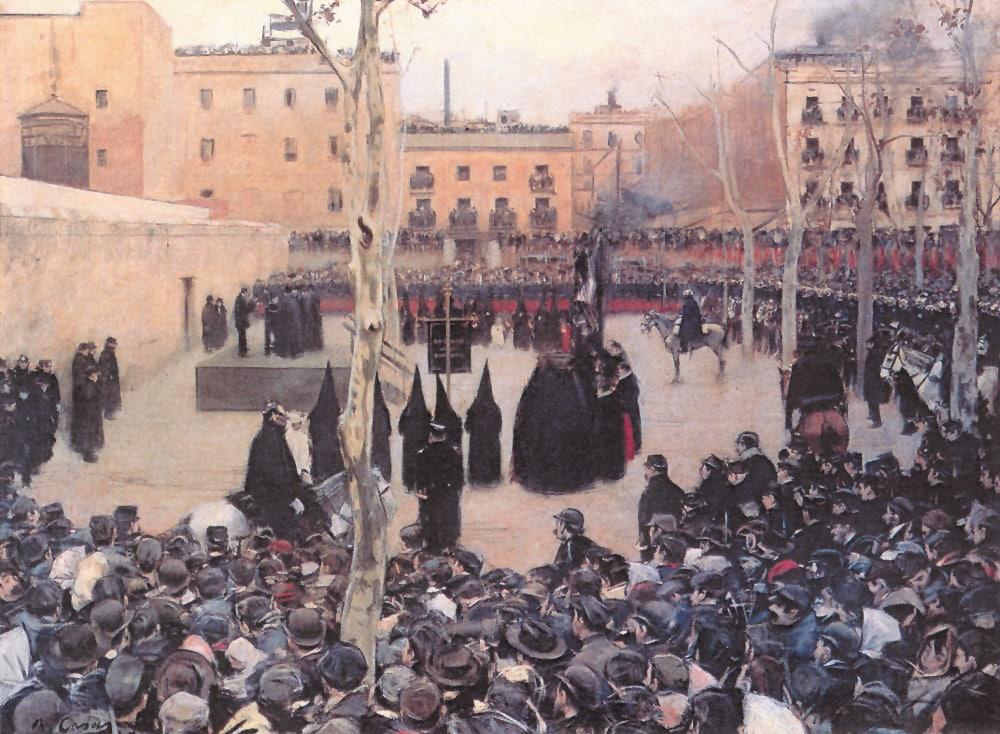 'Garrote vil', obra de Ramón Casas (1894). | La Marea