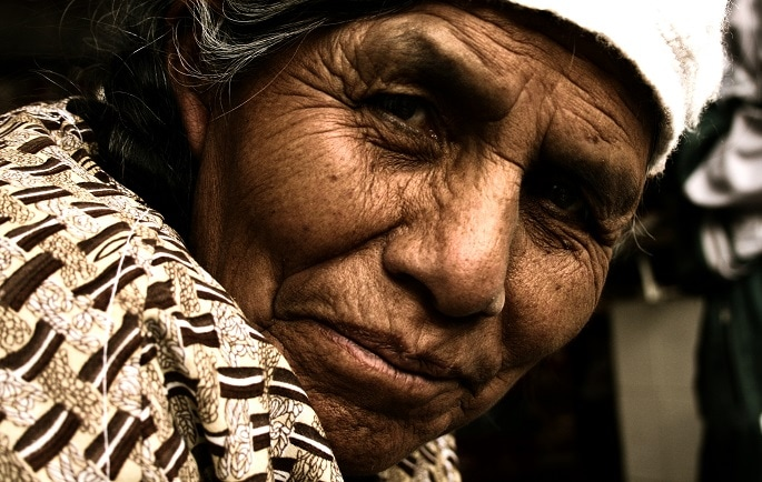 Mujer boliviana. Foto: José Bautista.