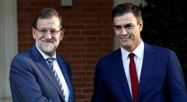 El presidente del Gobierno, Mariano Rajoy, y el líder socialista Pedro Sánchez | La Marea