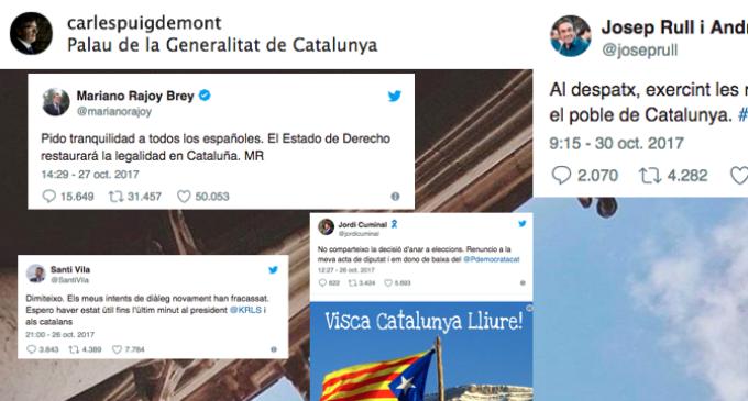 Y la política catalana se mudó a las redes