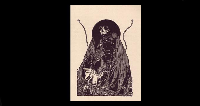 Imagen de Harry Clarke para 'Los cuentos de imaginación y misterio', de Poe, 1919.