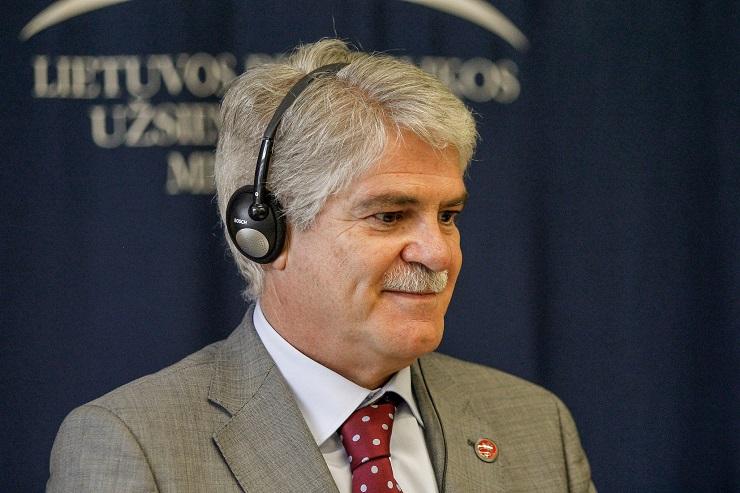 Alfonso Dastis, ministro de Asuntos Exteriores. Foto: Gobierno de Lituania.