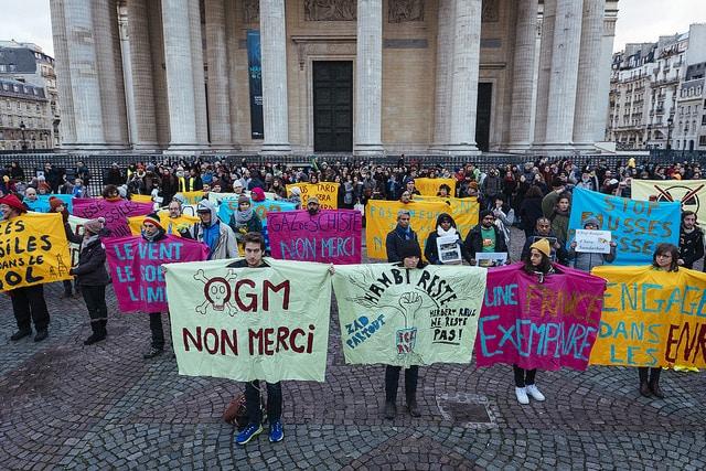 Protesta contra el cambio climático en París. Foto: 360.org