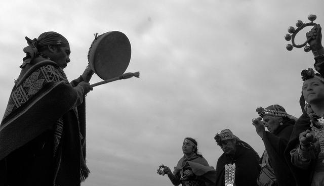 Ceremonia mapuche en Coquimbo, Chile. Foto: Viciovillano.