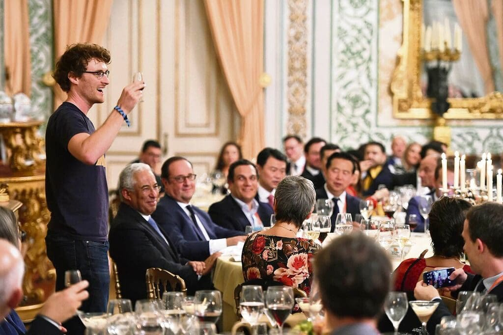 Paddy Crosgrave, responsable de la Web Summit, en una cena de gala en Lisboa 2018. WEB SUMMIT
