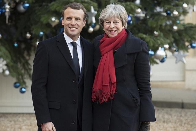 Emmanuel Macron y Theresa May, en diciembre de 2017. Foto: Gobierno de UK