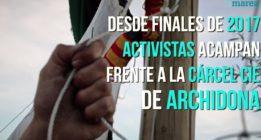 Activistas contra las devoluciones de migrantes de la cárcel CIE de Archidona