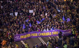 Citadas a declarar tres feministas de la CNT por participar en un piquete informativo el 8M en Gijón