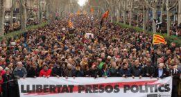 Protestas en Cataluña por la detención de Carles Puigdemont en Alemania