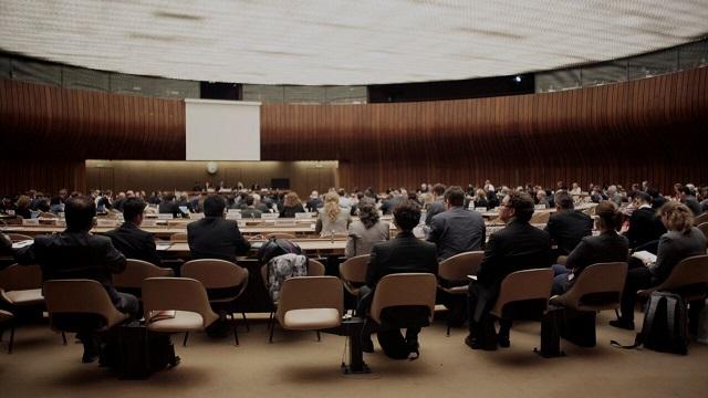 Reunión en la sede de la ONU sobre el futuro de las armas autónomas. Foto: Campaing to Stop Killer Robots (Abril 2018).