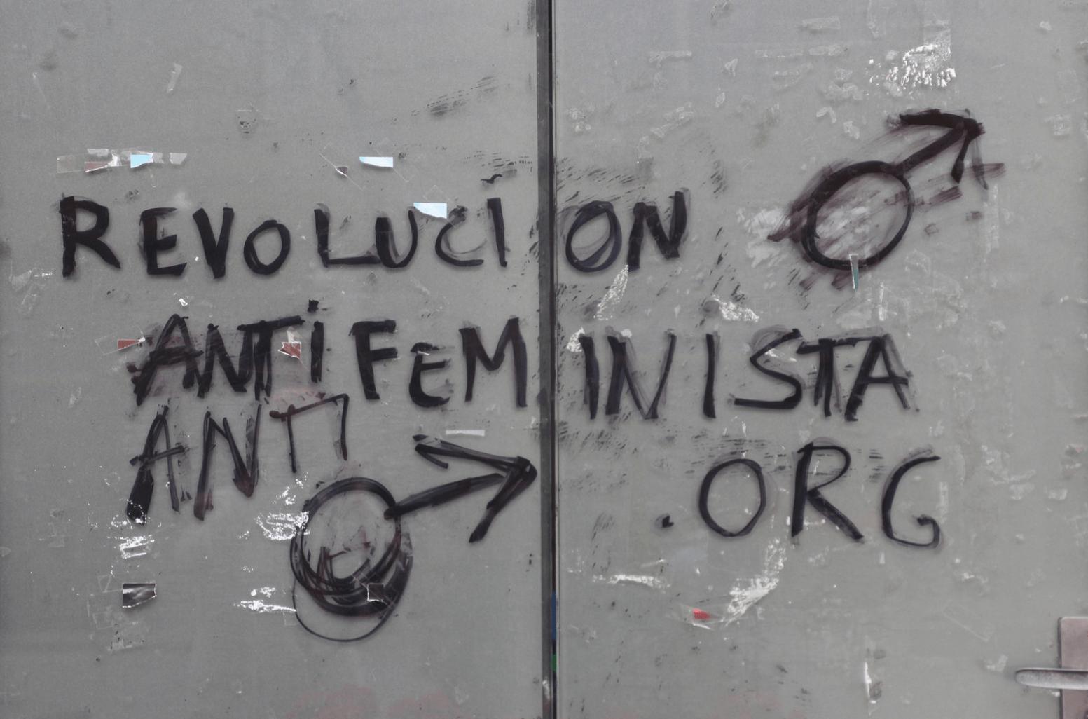 Le Jour ni l'Heure 6209 : Revolucion Antifeminista.org, Bilbao. Foto: Renaud Camus. Attribution 2.0 Generic (CC BY 2.0)