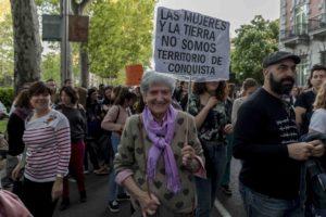 Manifestación contra la cultura de la violación
