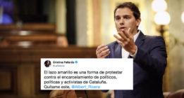 #RiveraQuítameEste: la respuesta a la retirada de lazos por parte de Ciudadanos