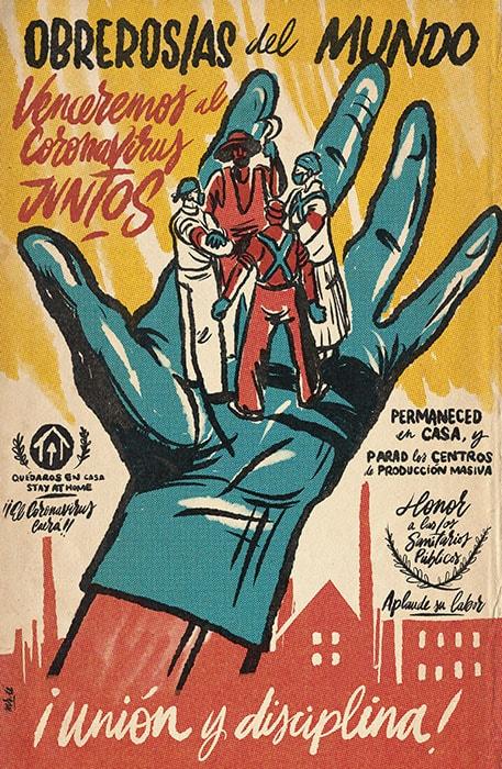 Obreros/as del mundo. Venceremos al coronavirus juntos. Mr. Zé